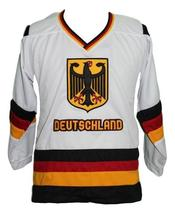 Custom Name # Team Germany Retro Hockey Jersey New Sewn White Fritz #68 Any Size image 1