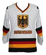 Custom Name # Team Germany Retro Hockey Jersey New Sewn White Fritz #68 ... - $54.99+