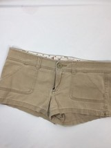 Hollister California Women Brown Shorts  Cotton Elatane booty shorts Size 9 - $13.10