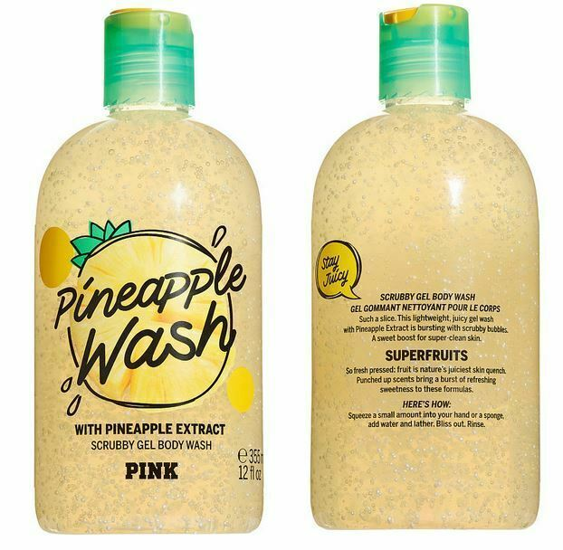 Primary image for Victoria's Secret Pink PINEAPPLE WASH Scrubby Gel Body Wash Limited Edition