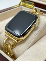Custom 24k Gold Plated 44mm Apple Watch Series 6 Stainless Steel LTE+Blood O2 - $1,424.05