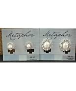 Metaphor Faux Pearl & Rhinestone Pierced Stud Earrings 2 Pair (1) - $15.02