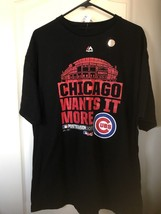 Chicago Cubs Wants It More 2015 Postseason Majestic MLB Authentic XL T-shirt NWT - $28.00