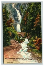 VINTAGE Tichnor Bros Postcard Wah-Kee-Na Falls Oregon UNUSED - $8.88