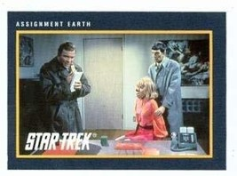 Star Trek card #185 Assignment Earth Captain Kirk Spock - $3.00