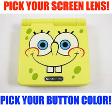 Nintendo Game Boy Advance GBA SP Spongebob System AGS 101 Brighter Pick Buttons! - $152.96