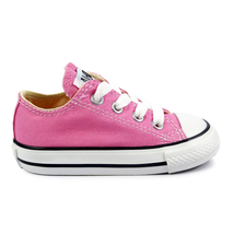 Converse All Star Chuck OX 7J238 Canvas Pink Kids Baby Toddler Shoes image 1