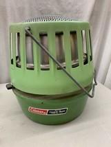 Vintage Coleman Catalytic Heater 5000 Btu Model 513b 11/81 1981 2 tone green - $49.99