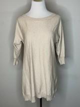 Alice + Olivia Woman Drapey Dolman Top Tunic Sweater Knit Beige Nude Sz ... - $44.96