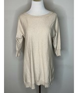 Alice + Olivia Woman Drapey Dolman Top Tunic Sweater Knit Beige Nude Sz ... - $44.96