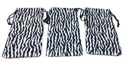 3 PACK ZEBRA SUBLIMATED ANIMAL PRINT SUNGLASSES EYEGLASSES CLOTH POUCH B... - $8.50