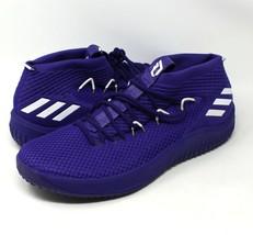 Adidas Dame 4 Men's Basketball Shoes Purple White Damian Lillard Size 19... - $74.79