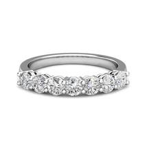 0.25 Carat G-H Diamond 7 Stone Bridal Wedding Anniversary Ring 14K White... - $474.21