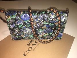 NWT COACH 1941 Dinky Wild Flower Printed Velvety Haircalf Crossbody Bag ... - $370.36