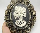 Halloween Skull Bride Silicone Mold for DIY Resin Concrete Plaster Decoration