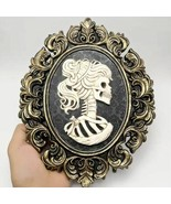 Halloween Skull Bride Silicone Mold for DIY Resin Concrete Plaster Decoration - £41.96 GBP