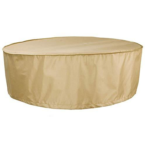 HENTEX Outdoor Round Hot Tub Cover, Round Patio Furniture Cover Table and Chair