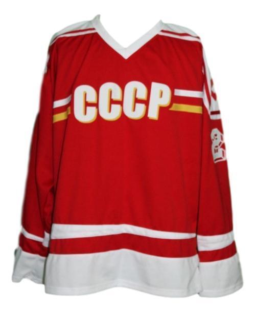 Arturs irbe  20 russia cccp retro hockey jersey red   1