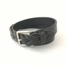 Ralph Lauren Braided Belt Brown Leather Women's Large - $23.36