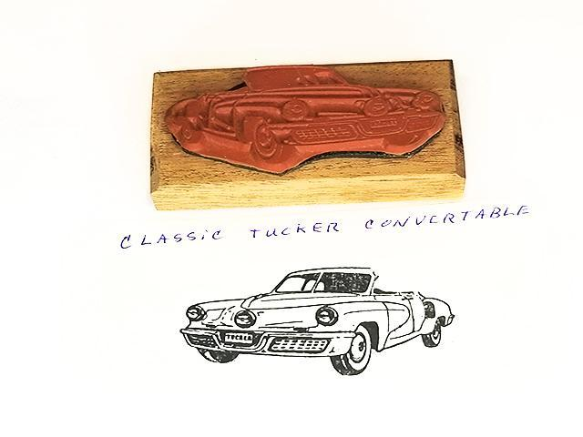 Collector Car Rubber Stamps Classic Tucker Convertible Rubber Stamp