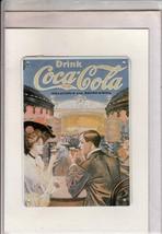 Vintage Blechkarte Coke Coca-Cola Refresco Estaño Carta con / Sobre - $22.76
