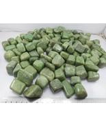 Hydrogrossular Green Garnet tumbled crystals Palm lots worry preform 2KG... - $118.80