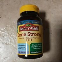 Nature Made Bone Strong Vit D, Calcium, Magnesium 60 softgels EXP 02/22 - $9.99