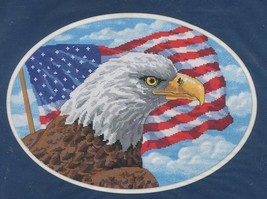Freedom Eagle 39018 Dimensions No Count Cross Stitch 2000 NOS Unopened Kit - $12.86