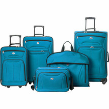 New American Tourister Wakefield 5-Piece Luggage Set - Teal Blue Winter ... - $115.00