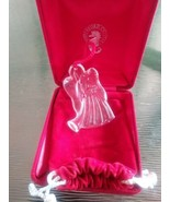 1998 Waterford Crystal Angel Christmas Ornament Original Pouch & Box - $20.00