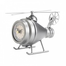 Silver Helicopter Desk Clock - $22.99