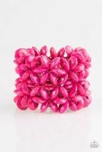 "Paparazzi Jewelry, ""Hawaii Haven"" Pink Wooden Stretch Bracelet - $3.47"