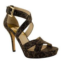 Michael Kors Women's Evie Glitter Textile Platform Heel Sandals-CB-9.5 M - $89.07