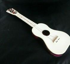 1950's Carnival Cowboy Western Toy Guitar Plastic Vtg USA Purple Marbling Nice - $35.53