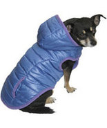 Fall Winter Blue with Purple Trim  Dog Coat - $9.00