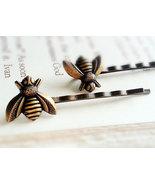 Antique brass bee bobby pin set woodland bobby pi1 thumbtall