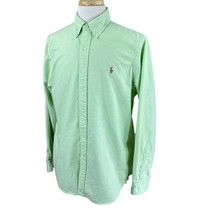 Ralph Lauren Polo Men's Button Down Long Sleeve Mint Green Oxford Shirt Large - $22.76