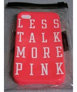 Victoria's Secret PINK  Iphone Cell phone Case Soft Less Talk More Pink ... - $9.49