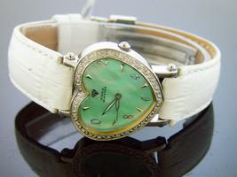Swiss movt Aqua Master watch lady style 0.50ct diamond  Green M-O-P - $143.55