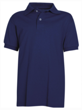 Hanes ComfortBlend Size Large (L) Youth Jersey Polo Lightweight Deep Navy image 2