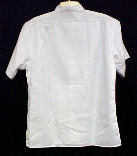 Profiles Star Chef Server Shirt M Restaurant White Button Up Short Sleeve New