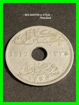 Very Unique 1917 Egyptian Ten Milliemes Coin - $19.39
