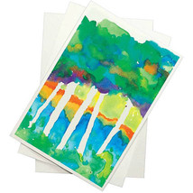 Recyclable Watercolor Paper White Pack Of 100 Beginner Artists School Pa... - $31.61