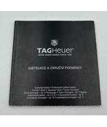TAG Heuer Swiss Avant-Garde Since 1860 Instrukce A Zarucni Podminky Manual - $29.99