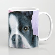 Coffee Mug Cup 11oz or 15oz Made USA Dog 128 Boston Terrier purple art L... - $19.99+