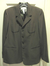 LIZ CLAIBORNE COLLECTION DARK GREEN CAREER JACKET BLAZER SZ 12P - $34.46