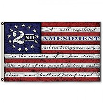 Second 2nd Amendment Vintage American Flag Banner USA  Man Cave Decor 3X... - $19.99