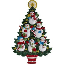 Bucilla Snowman Tree Christmas Decoration Door Wall Hanging Felt Craft Kit 86913 - $52.95