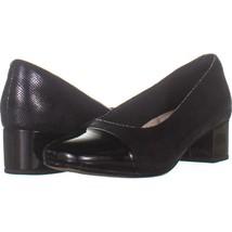 Clarks Chartli Diva Comfort Dress Pumps 505, Black Interest, 7 US / 37.5 EU - $27.83