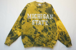 Michigan State SUPER-HEAVY Sweatshirt, Tie-Dye, Men's XL 9190 - $28.42